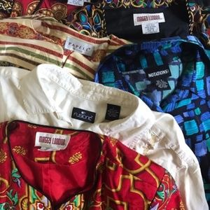 Vintage Silk Tops and Dress. Mens and womens.
